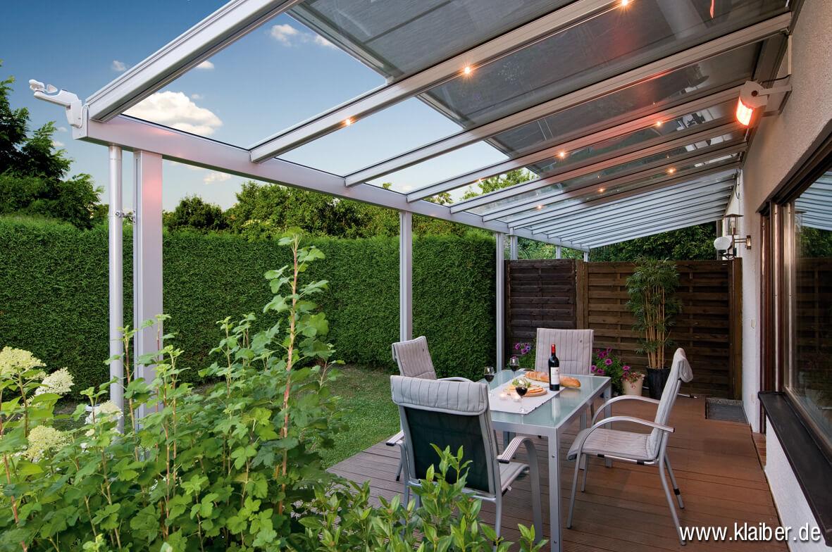 klaiber terrassen berdachung und vord cher aus glas und. Black Bedroom Furniture Sets. Home Design Ideas