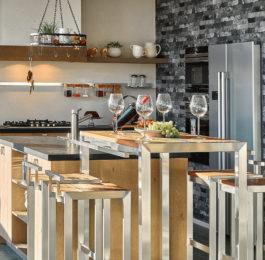 Edelstahl Möbel Noble Barhocker Küche
