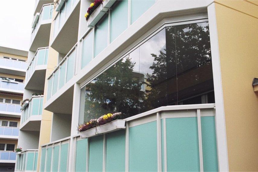 Balkonverglasung, Schiebeverglasung, Glasschiebewand
