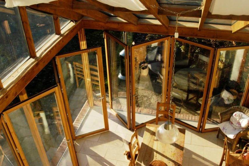 Die Glas-Faltwand von Sunflex für Ihren Wintergarten.