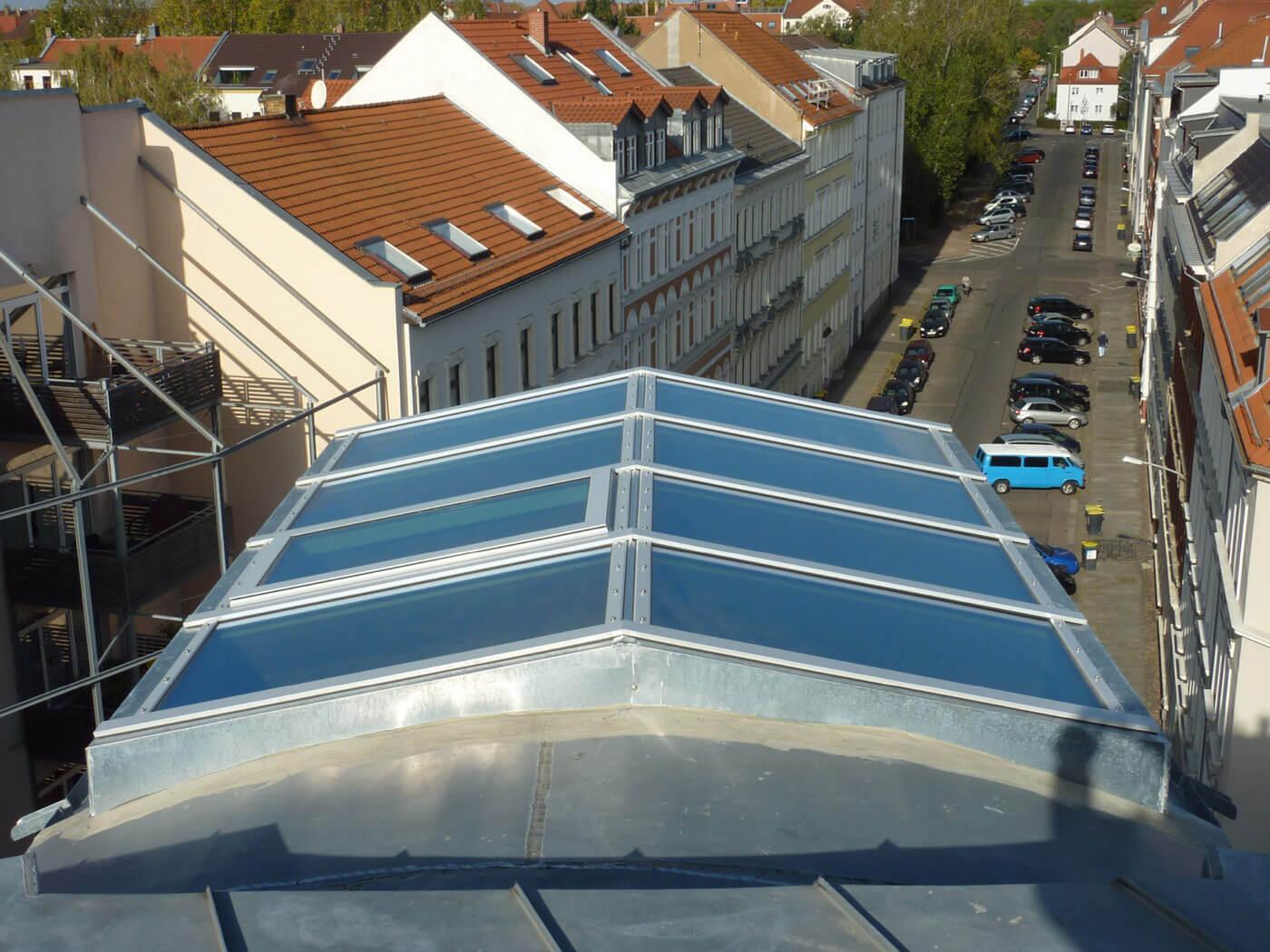 professionelle Sanierung-Glasdach: nachher