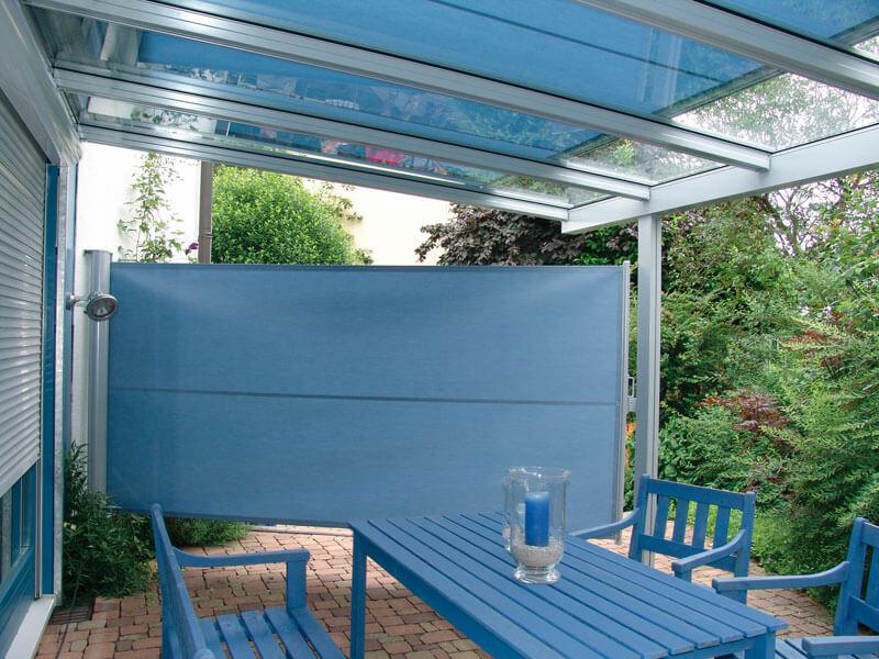 Klaiber Seitenbeschattung Quick-Roll mit Glasdach Terrado
