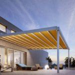 bis zu 105 m² stylischer Sonnen- und Regenschutz
