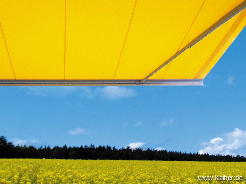 Die Markise bietet Ihnen einen zuverlässigen Sonnenschutz für Ihre Terrasse.