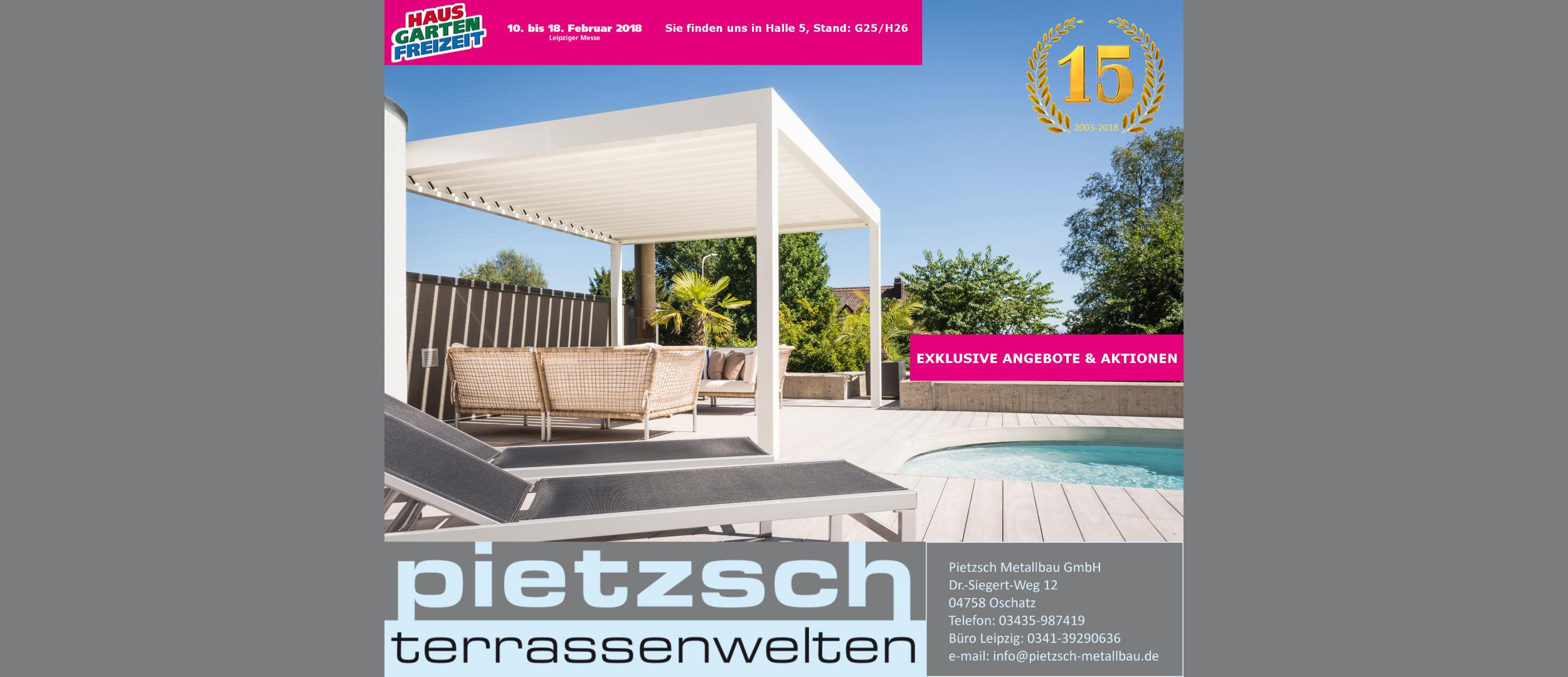 Haus Garten Freizeit 2018 Pietzsch Terrassenwelten
