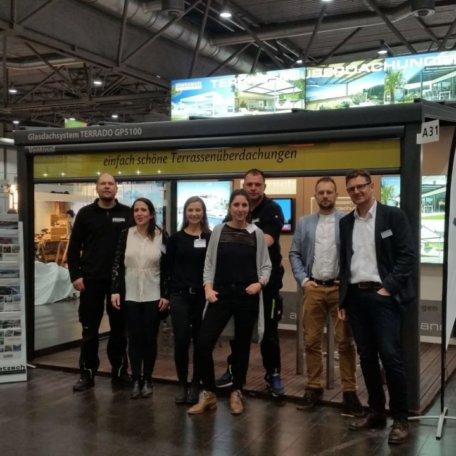 Team pietzsch terrassenwelten auf der HAUS+GARTEN+FREIZEIT 2018 in Leipzig