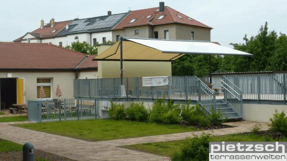 freistehende Markise von Klaiber Leipzig Pietzsch Terrassenwelten