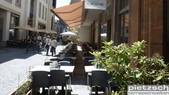 Gastromarkise 12m breit ohne Stoßschutz von Klaiber Leipzig Pietzsch Terrassenwelten