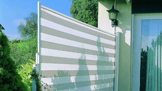 Seitenbeschattung Markise Quickroll von Klaiber Leipzig Pietzsch Terrassenwelten