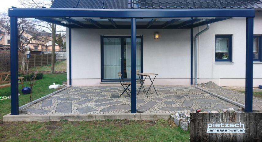 Ansicht Terrassenüberdachung mit Markise
