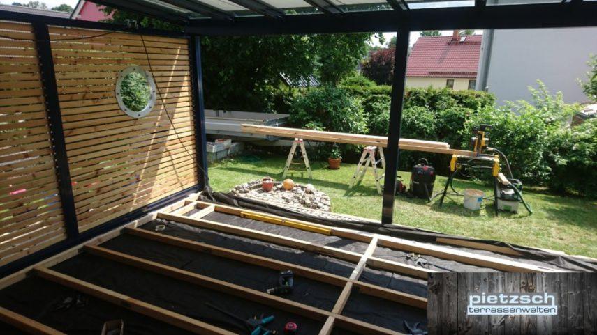 Terrassenüberdachung Unterkonstruktion Holz