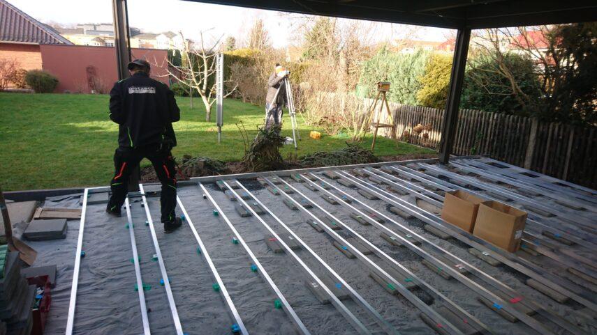 Terrassenpavillon MX Markant-Unterkonstruktion Aluminium
